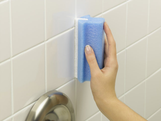 Special tile grout cleaning brush invented cleaner for Best product for cleaning bathroom tiles