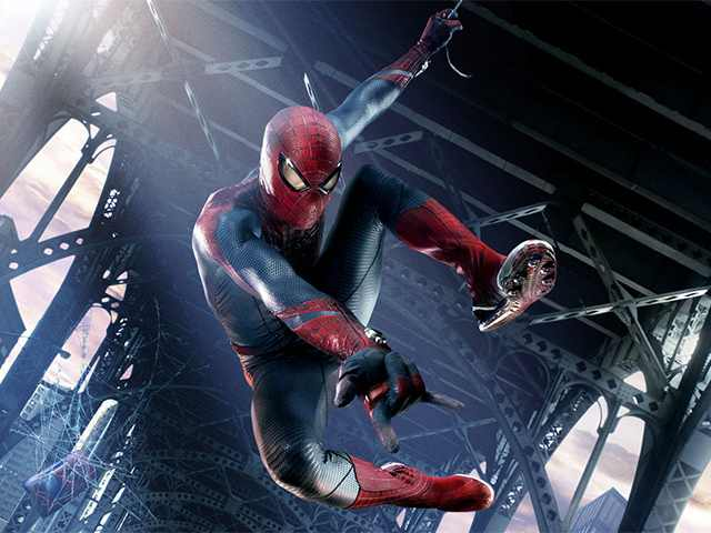 Spiderman Seen Cleaning Windows
