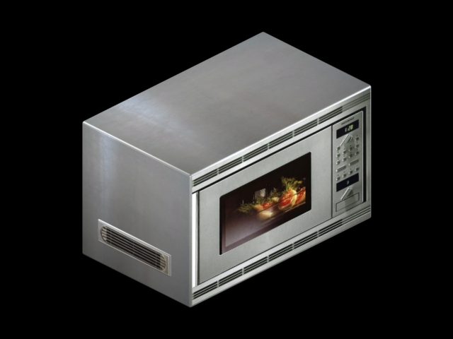 Bullet in microwave exploded